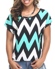 Fashion Lab - Black Mint Dolman Top