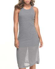 Fashion Lab - Racerback Striped Maxi Dress