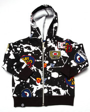 Hoodies - SPLATTER & PATCH FULL ZIP HOODY (INFANT)