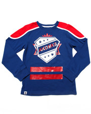Boys - L/S CUT & SEW HOCKEY TEE (8-20)