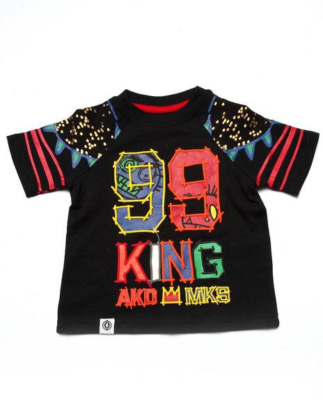 Akademiks - Boys Black King Tee (Infant)