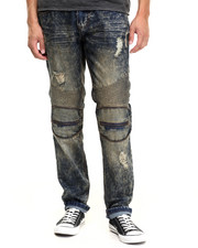 Men - Biker - Style Denim Pants