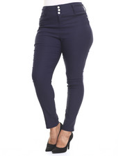 Bottoms - 3 Button High Waist Skinny Jean (Plus)