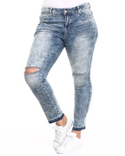 Bottoms - Knee Slashed Skinny Jean