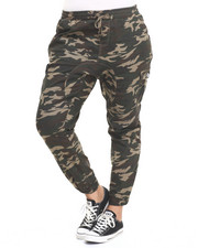 Bottoms - Camo Print Pocket Twill Jogger (Plus)