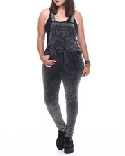 Basic Essentials - Holiday Chemical Plush Cord Skinny Overall (Plus)