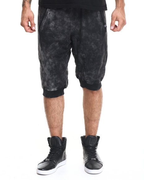 Hudson Nyc - Men Black Retro Bleach Wash 3/4 Jogger