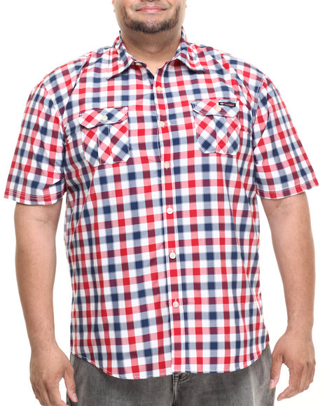 Enyce - Men Navy,Red Turtle S/S Button-Down (B&T)