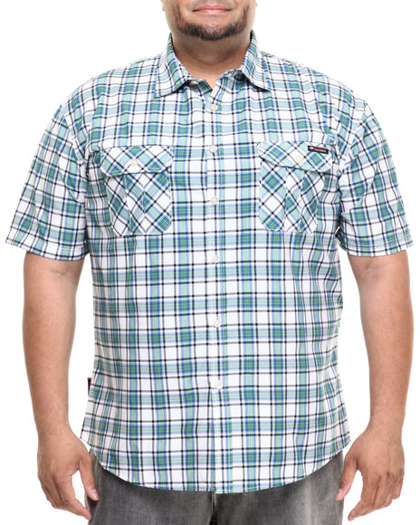 Ur-ID 223456 Enyce - Men Green Ed S/S Button-Down (B&T)