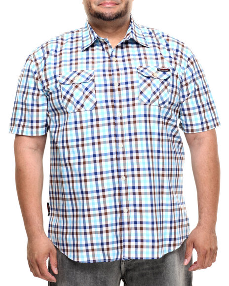 Ur-ID 224231 Enyce - Men Light Blue Sanchez S/S Button-Down (B&T)
