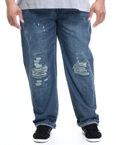 Akademiks - Men Indigo Empire Wash Denim Jeans (B&T)