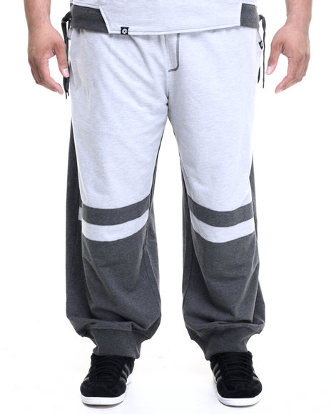 Akademiks - Men Charcoal,Grey Dragon Cut & Sewn Jogger Sweatpants (B&T)