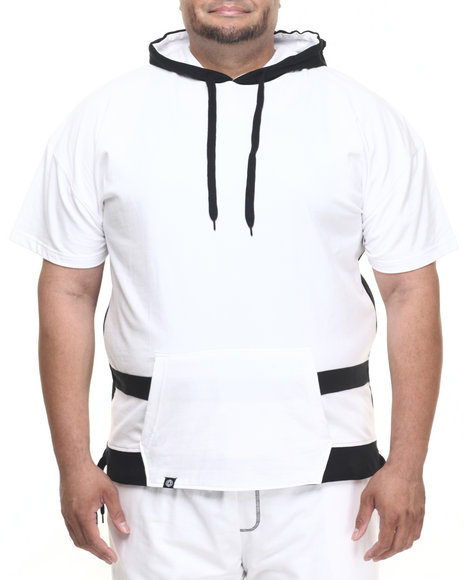 Ur-ID 223999 Akademiks - Men Black,White Avenger French Terry Hoody (B&T)