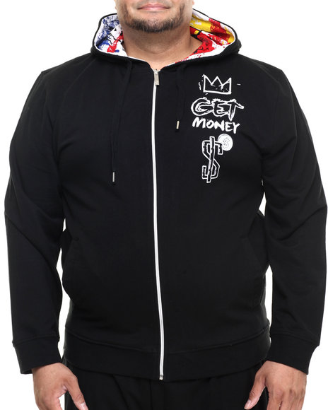 Ur-ID 224162 Akademiks - Men Black Guardian Full Zip Hoody (B&T)