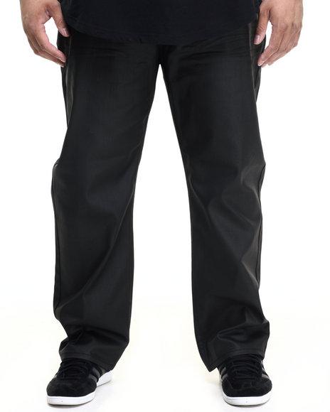 Ur-ID 224220 Akademiks - Men Black Robertson Wax Coated Denim Jeans
