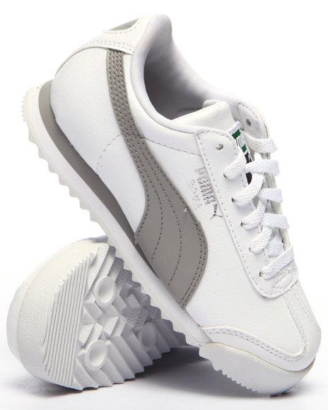 Puma - Boys White Roma Basic Jr Sneakers (11-7)