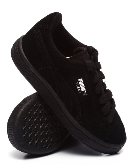 Puma - Boys Black Suede Jr Sneakers (11-7)