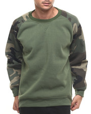 Basic Essentials - Camo Raglan Crewneck Sweatshirt