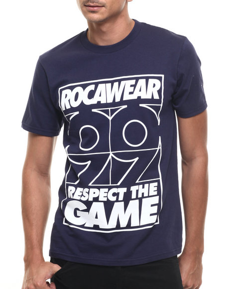 Rocawear - Men Navy Respect The Game Tee