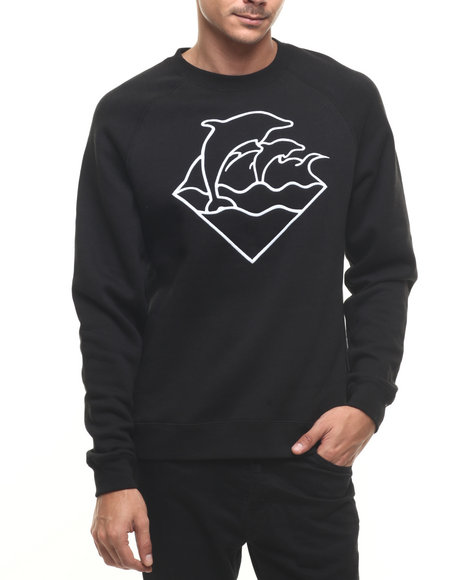 Pink Dolphin Pullover Sweatshirts