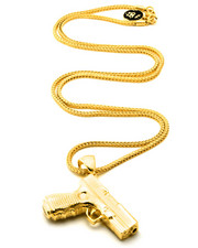 Jewelry & Watches - Gold Pistol Chain