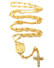 Accessories - 14K Gold Rosary Necklace
