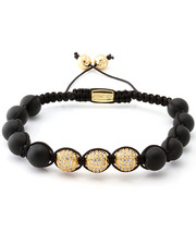 Men - 14K Gold CZ Matte Bracelet