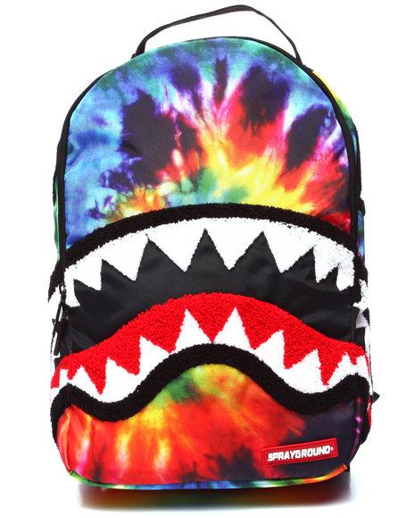 Sprayground Men Tie Dye Chenille Shark Multi