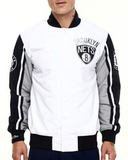 NBA, MLB, NFL Gear - Brooklyn Nets NBA Quadruple-Double Warm Up Jacket (Tailored Fit)