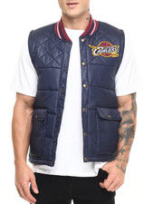 NBA, MLB, NFL Gear - Cleveland Cavaliers NBA Snap Front Vest (Tailored Fit)