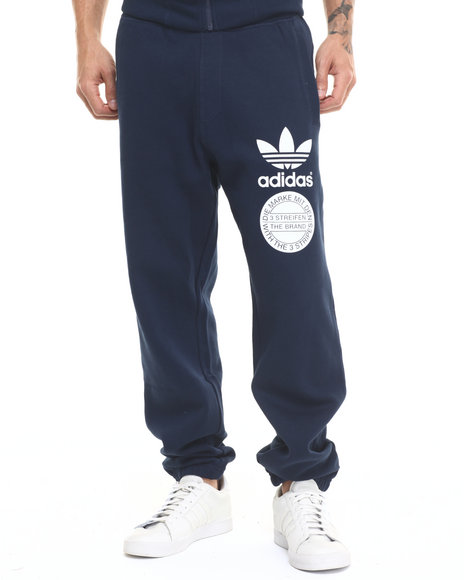 Adidas - Men Navy Graphic Sweatpant - $60.00