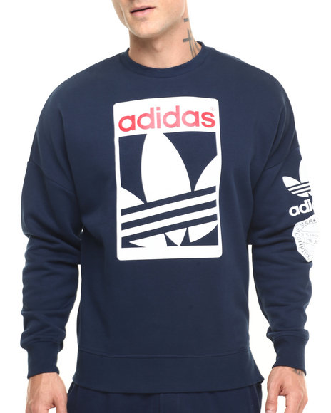 Adidas - Men Navy Street Graphic Crew