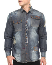 Heritage America - Patch Denim L/S Button-Down