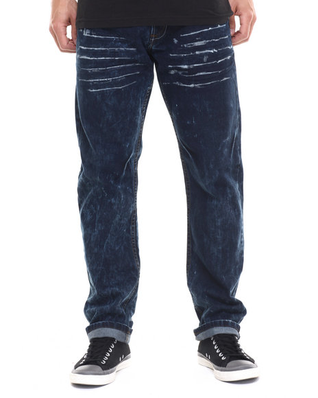 Basic Essentials - Men Dark Wash Chernobyl Denim Jeans