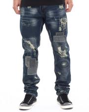 Jeans & Pants - Distressed Patch Denim Jeans