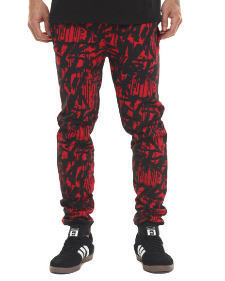 Basic Essentials - Men Red Tag Da City Joggers
