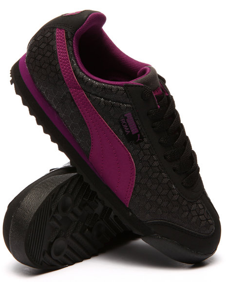 Puma - Women Black Roma Kurim Sneakers