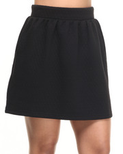 Bottoms - Belle Quilted Knit Skirt