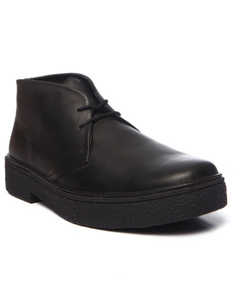 Ur-ID 223760 British Walkers - Men Black Playboy Hi - Top Leather Lace - Up Shoes