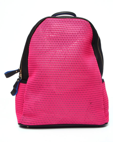 Pink Cosmo Women Pink Cosmo Neon Mesh Backpack Pink