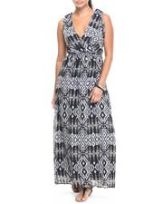 Dresses - Aztec Print Georgette Maxi