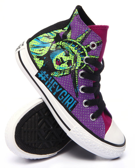Converse - Girls Purple Chuck Taylor All Star Nyc Hi (11-3)
