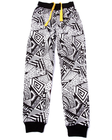 Arcade Styles - Boys Black Animated Joggers (8-20)