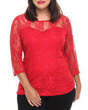 Fashion Tops - Lan Lace Top (plus)