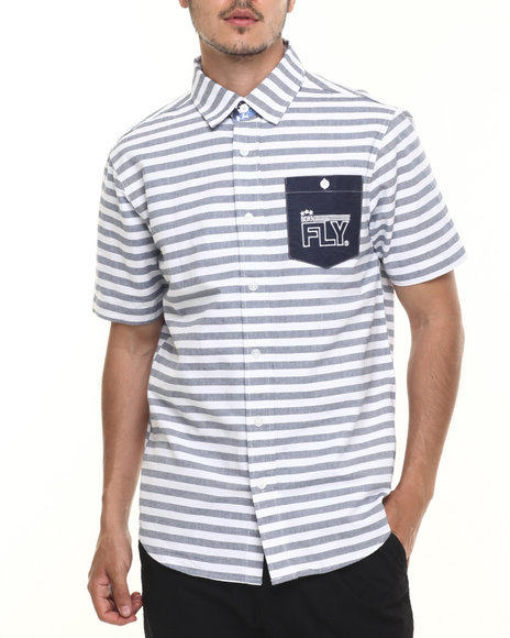 Born Fly - Men White Borg S/S Button-Down