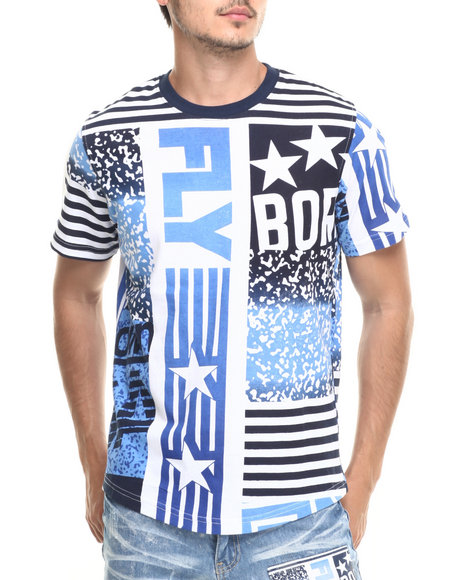 Born Fly - Men Navy Bongo Tee - $38.00