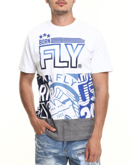 Born Fly - Men White A B H Tee - $38.00