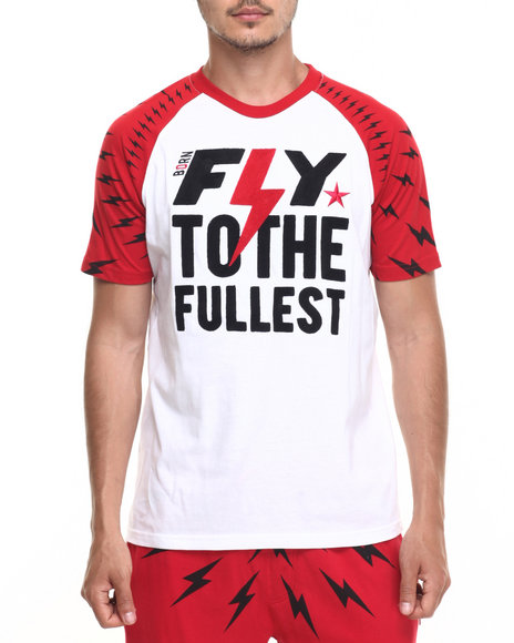 Born Fly - Men Red Chut Chut Raglan Tee - $34.99