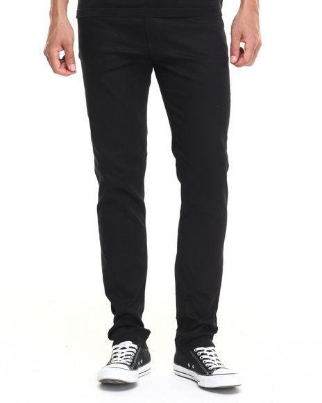 Basic Essentials - Men Black Skinny Colored Pants (Usa Made) (Go Usa!)