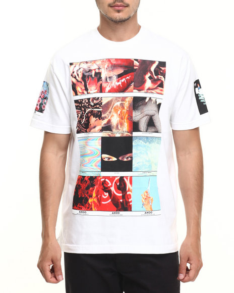Akoo - Men White Polaroids Tee
